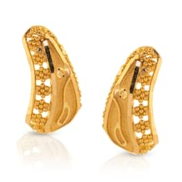 Akuti Granulated Gold Earrings