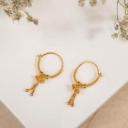 Chetsi Beaded Gold Hoop Earrings