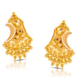 Chetal Granulated Gold Stud Earrings
