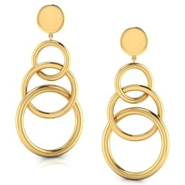 Linked 'O' Drop Earrings