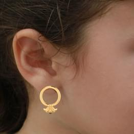 Husk Gold Stud Earrings