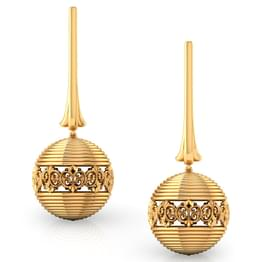 Spherical Gold Drop Earrings