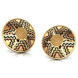 Mirror Maze Gold Stud Earrings