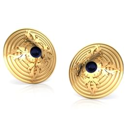 Acanthus Gold Stud Earrings