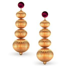 Modular Beads Gold Drop Earrings
