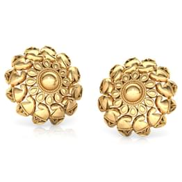 Cluster and Paisley Gold Stud Earrings
