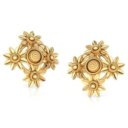 Quad Floret Gold Stud Earrings
