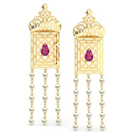 Amer Ornate Lawn Drop Earrings