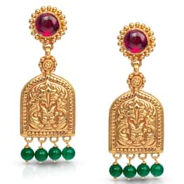 Jharokha Gold Drop Earrings