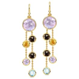 Sway Gemstone Drop Earrings