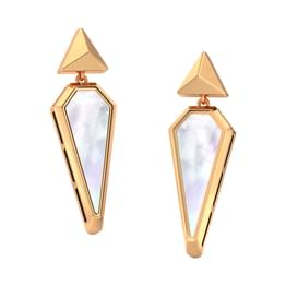 We Mother of Pearl Drop Earrings