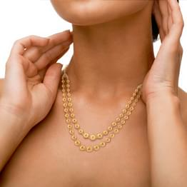 Hina Beaded Gold Necklace