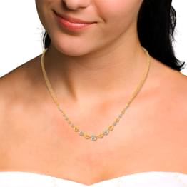 Dual Tone Bead Necklace