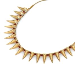 Conical Beads Gold Necklace