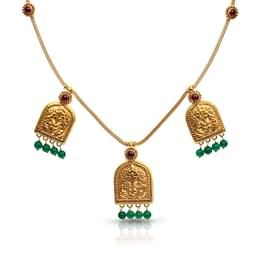 Trio Jharokha Gold Necklace