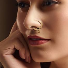 Beaded Gold Nose Pin