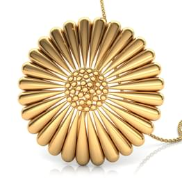 Tapered Cone Gold Pendant