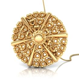 Miligrain Scroll Gold Pendant