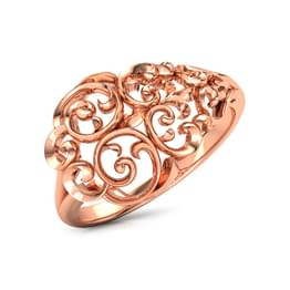Curved Filigree Ring