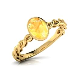 Wave Citrine Birthstone Ring