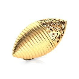 Marquise Cutwork Gold Ring