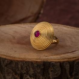 Tapering Cone Gold Ring