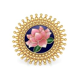 Gaura Lotus Gold Ring