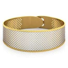 Fine Patterned Gold Bracelet