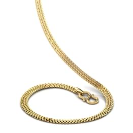 Broad Box Gold Chain