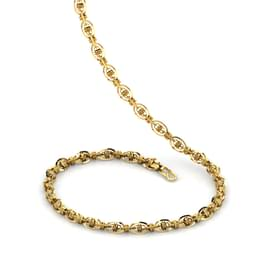 Oval Interlooped Link Gold Chain