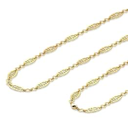 Oval Cutout Link Gold Chain