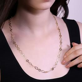 Bloom Cutout Link Gold Chain
