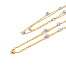 Pattern Bead Cable Gold chain