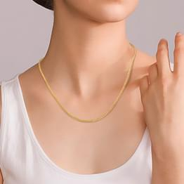 Sleek Foxtail Gold Chain