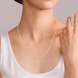 Oblong Cable Gold Chain