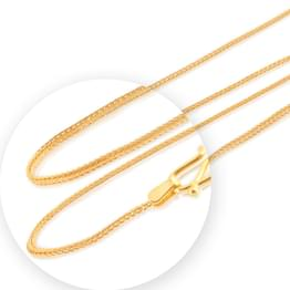 Bare Foxtail Gold Chain
