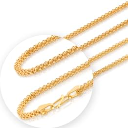 Firm Interlaced Cable Gold Chain