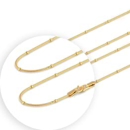 Charming Foxtail Gold Chain