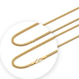 Modish Foxtail Weave Gold Chain