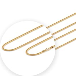 Deco Round Gold Chain