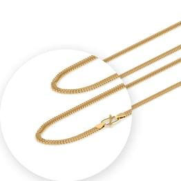 Duo Foxtail Gold Chain
