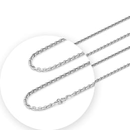 Poise Platinum Curb Chain