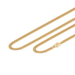 Duo Line Foxtail Gold Chain