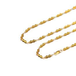 Flat Bead Link Gold Chain